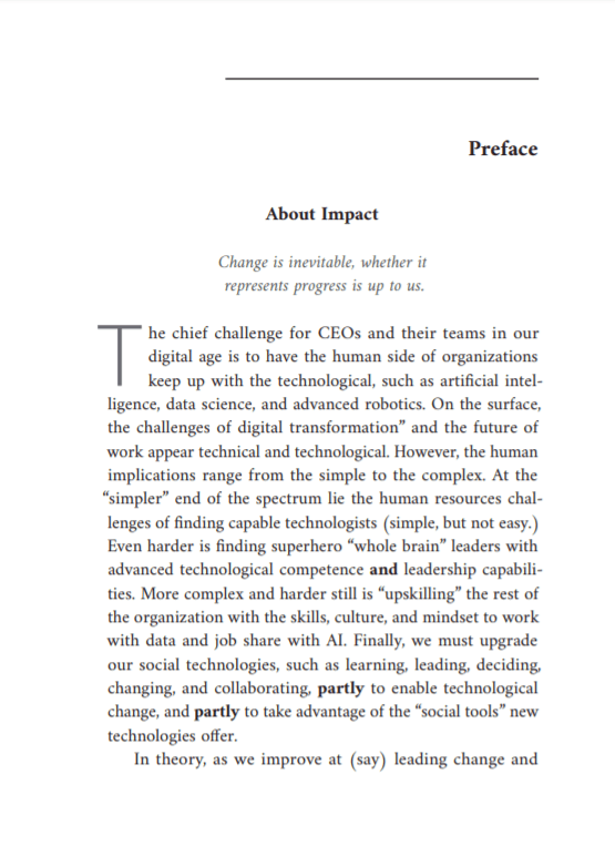 sample chapter for impact book